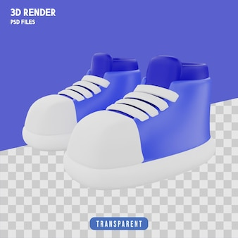 Schoenen 3d-rendering geïsoleerd premium