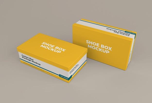 Schoenendoos mockup geïsoleerd ontwerp