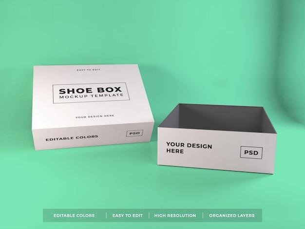 Schoenendoos verpakking mockup