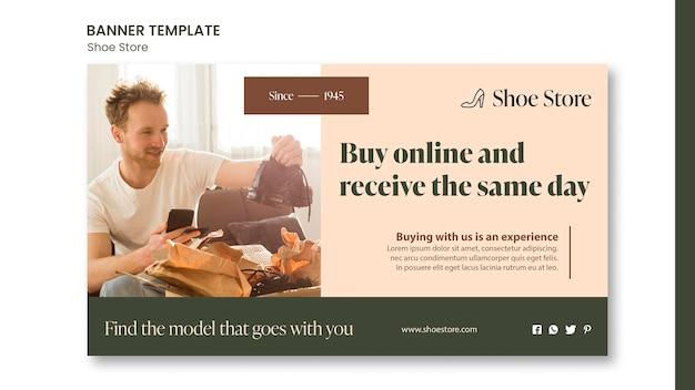 Schoenwinkel concept sjabloon voor spandoek