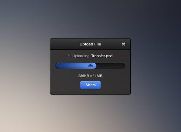 Schone donkere bestanden vrij weinig psd kleine upload widget