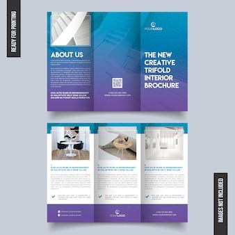 Schone en unieke driebladige brochure