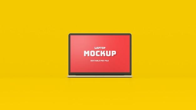 Schone laptopmodel bewerkbaar