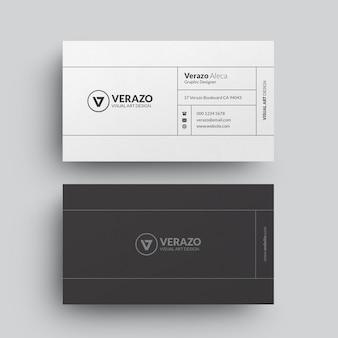 Schone minimalistische visitekaartjesjabloon