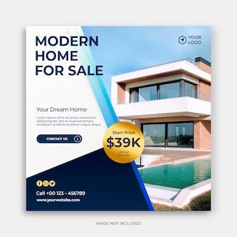 Schone moderne sociale media instagram-sjabloon met concept voor banneradvertenties voor thuis te koop