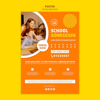 School toelating concept poster sjabloon