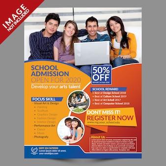 School toelating psd flyer-sjabloon