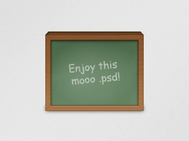 Schoolbord icoon met bericht