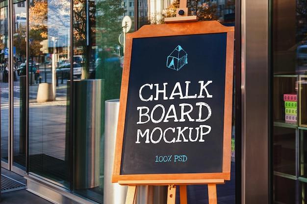 Schoolbord restaurant menu mockup