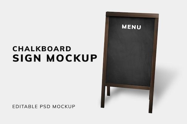Schoolbord teken mockup ontwerppaneel