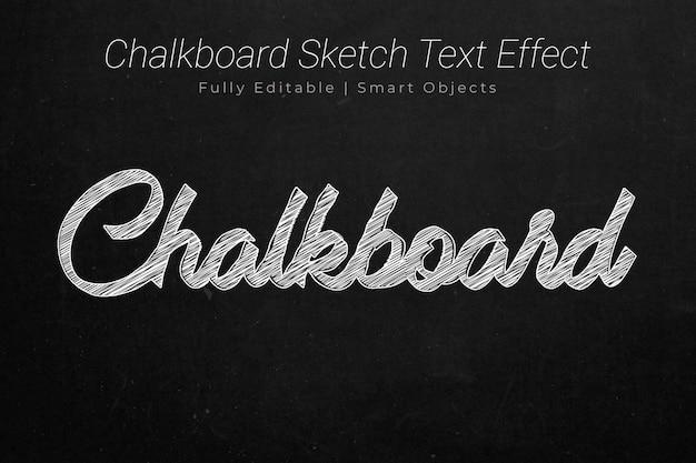 Schoolbord tekst effect
