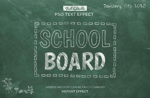 Schoolbord teksteffect