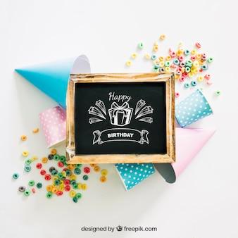 Schoolbordmodel met verjaardagsontwerp
