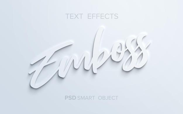 Schoon reliëf teksteffect