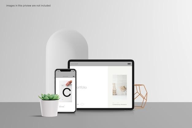 Schoon tablet- en smartphonemodel