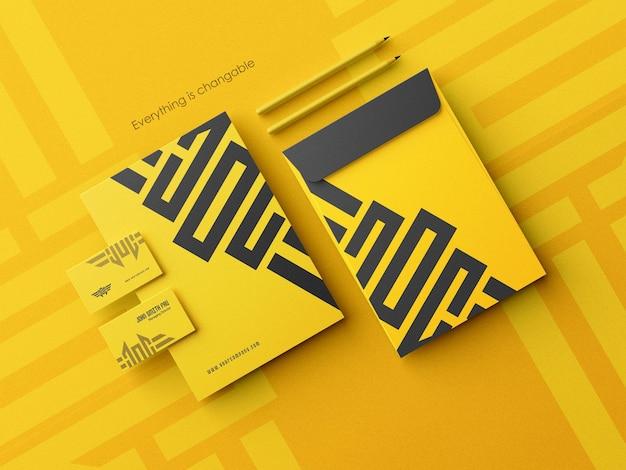 Schoon visitekaartje met envelopmodel a4-formaat