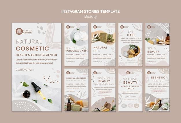 Schoonheid instagram verhalen sjabloon
