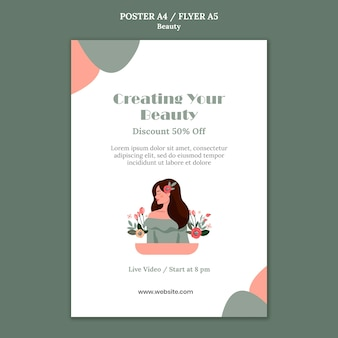 Schoonheid verkoop poster sjabloon