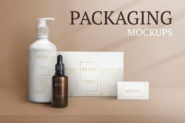 Schoonheidsproducten verpakking mockup psd