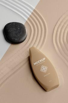 Schoonheidsverzorgingsproduct mock-up