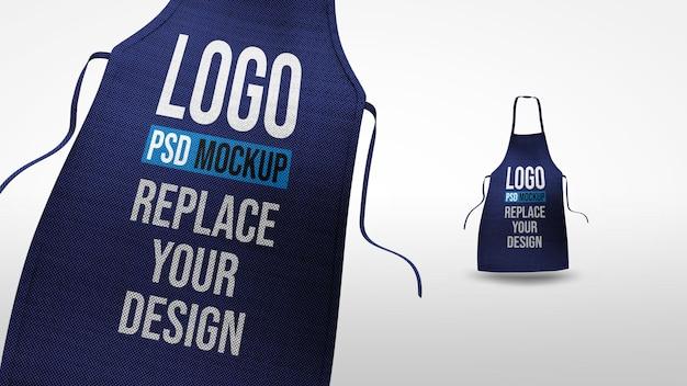 Schort 3d-rendering mockup-ontwerp