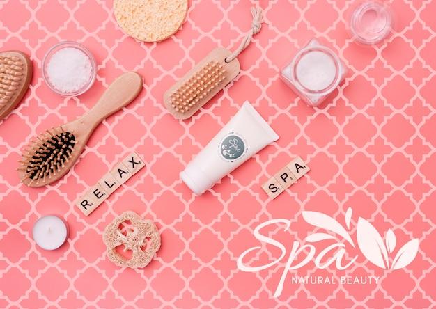 Schrobpakket bij spa-salonmodel