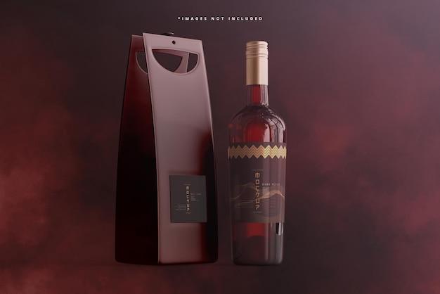 Schroefdop wijnfles met tas of koffermodel