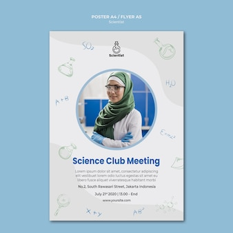 Science club poster sjabloon