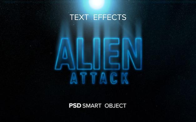 Sciencefiction teksteffect Gratis Psd