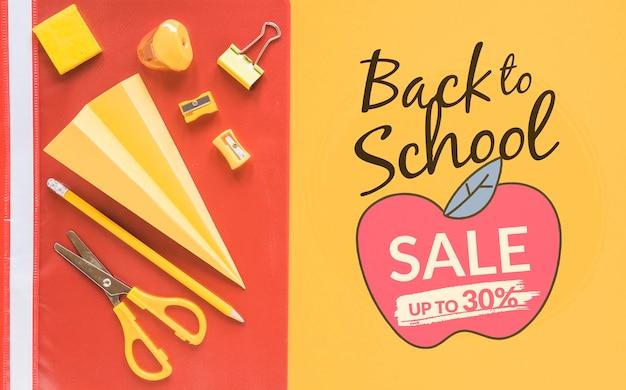 Sconto di vendita a scuola fino al 30%