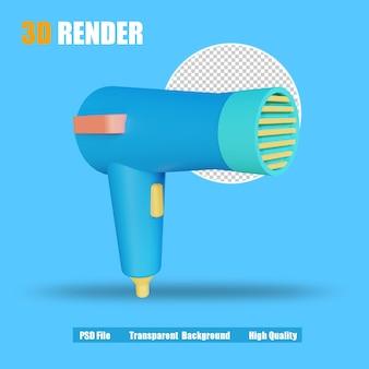 Secador de pelo 3d render icon