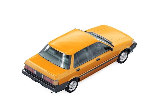 Sedan auto 1983 mockup