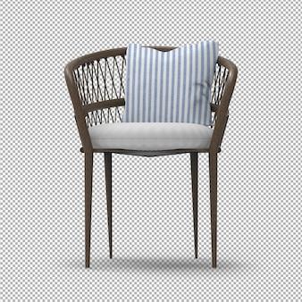 Sedia da giardino 3d isolata