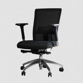 Sedia da ufficio su sfondo bianco