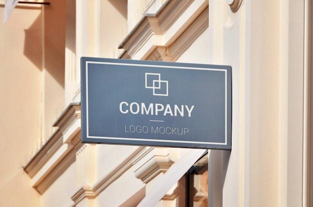 Segno di boutique, mockup di promozione logo branding