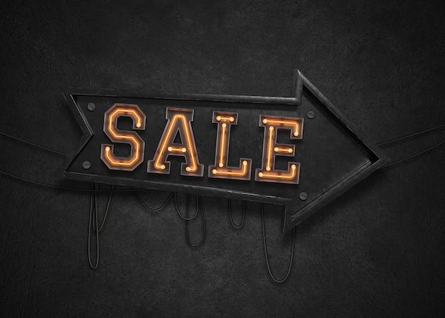 Segno di luce di vendita