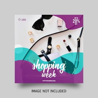Semana de compras en instagram post