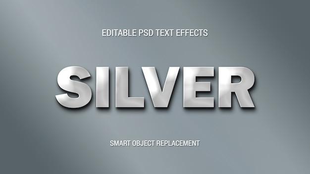 Semplici effetti di testo argento