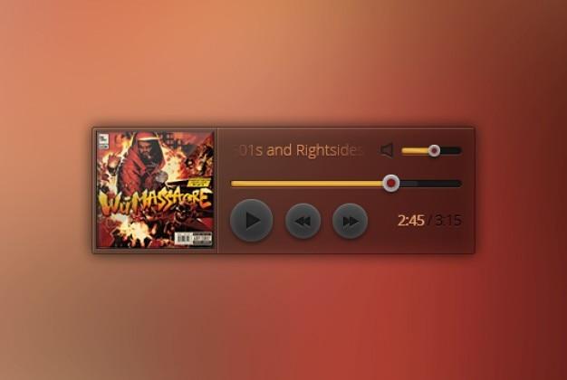Sencilla music widget pequeña
