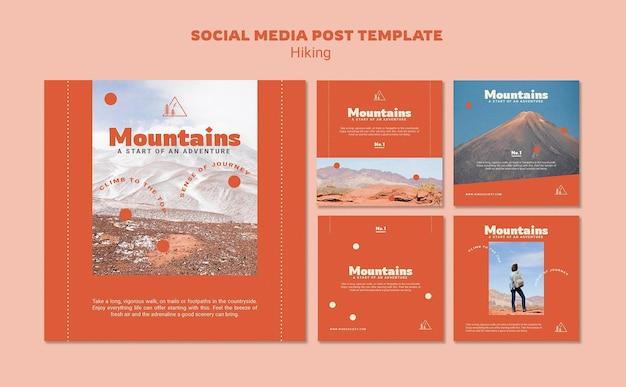 Senderismo publicaciones en redes sociales