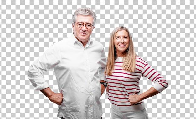 Senior cool marito e moglie ridere