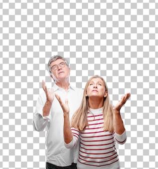 Senior cool marito e moglie