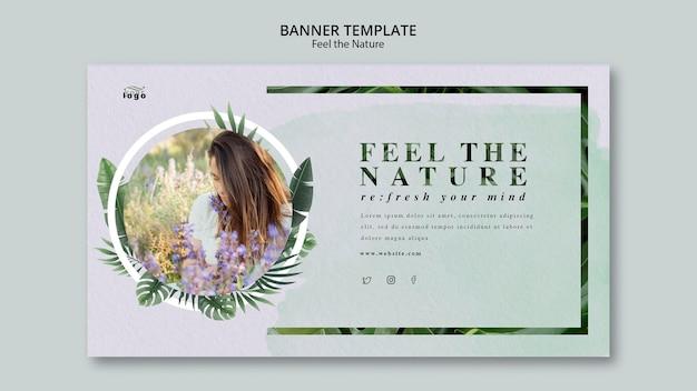 Senti il design del banner natura