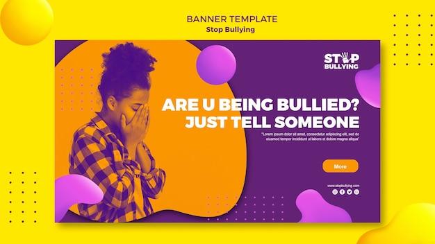 Ser intimidado, hablar con alguien plantilla de banner