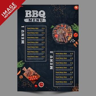 Serie de folletos de menú de carteles de barbacoa vintage a4