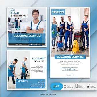 Servicio de limpieza colección de pancartas