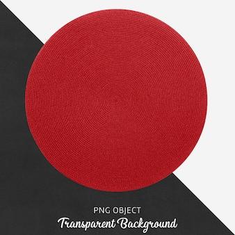 Servicio de mimbre transparente y redondo rojo.