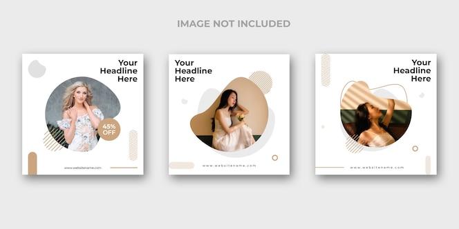 Set di banner di instagram di moda minimal
