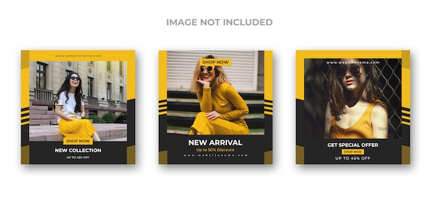 Set di banner di moda social media