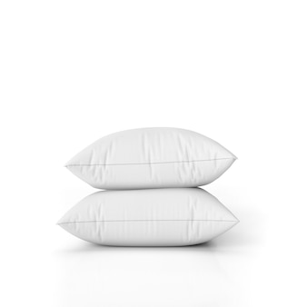 Set di cuscini vuoti isolato